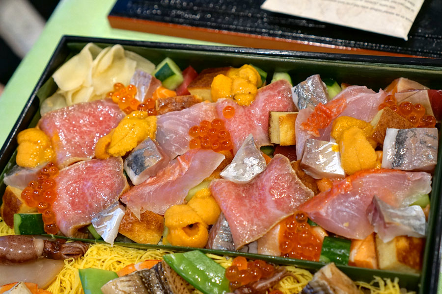 Sushi I-Naba Bara-Chirashi (Upper Section)
