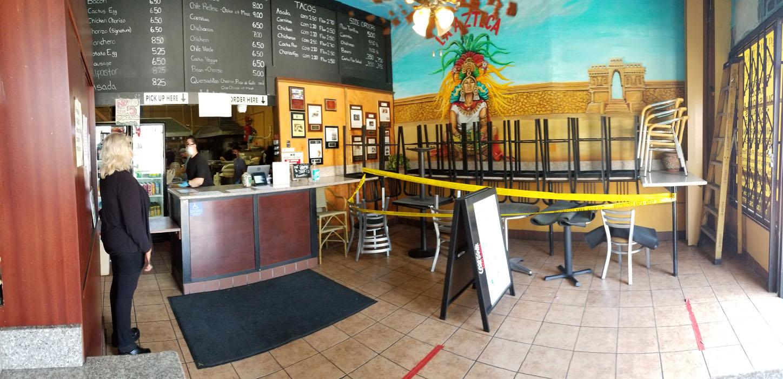 La Azteca Tortilleria Interior