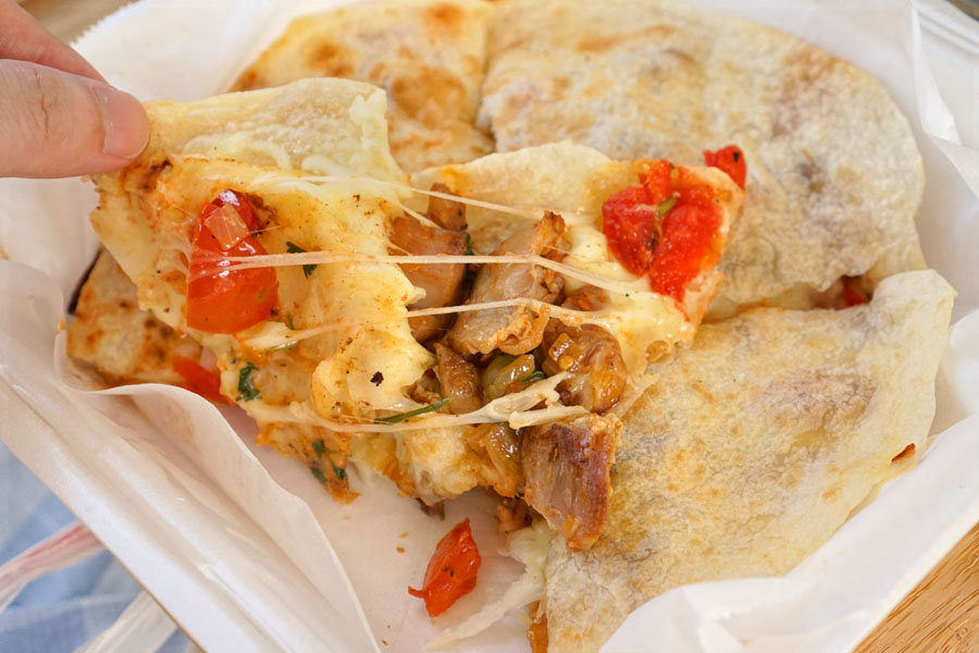 Chicken Quesadilla (Opened Up)