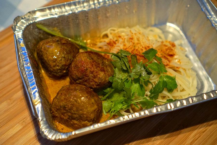 grass-fed beef-pork meatballs