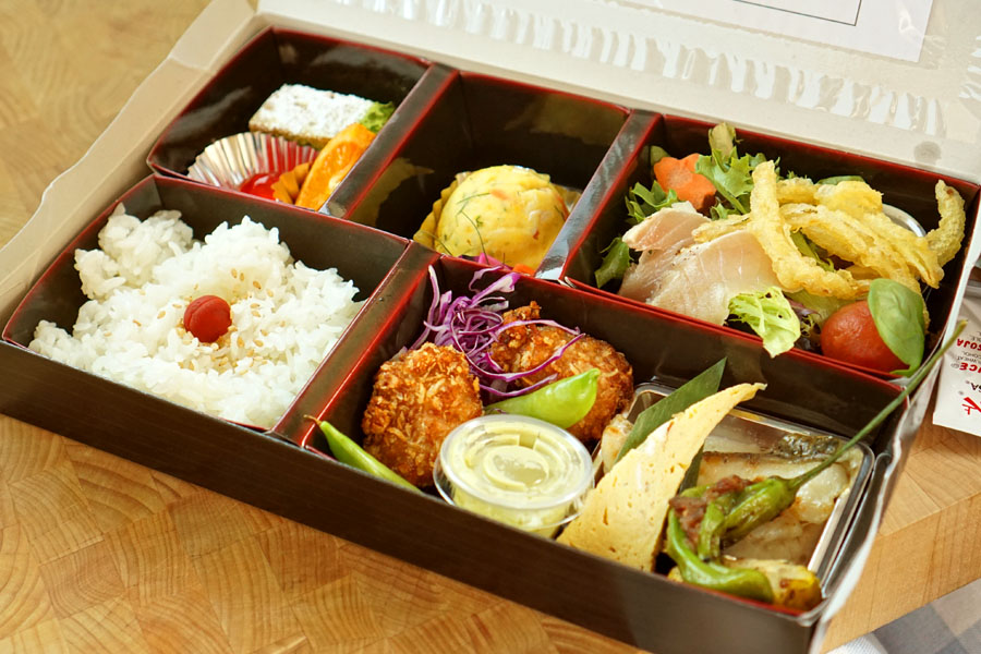 n/naka Bento Box Opened