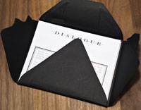 Dialogue Takeout Tasting Menu Card: Envelope