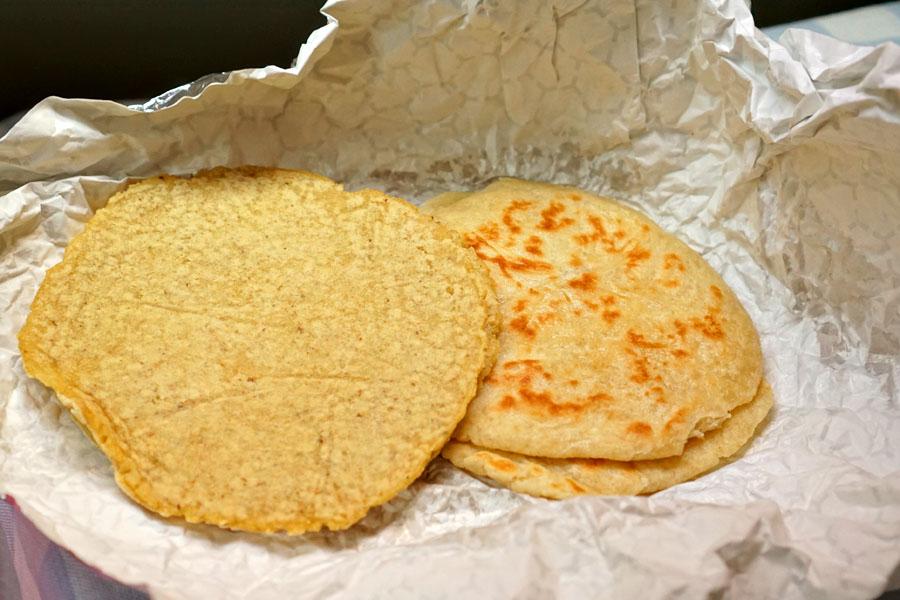 tortillas de maíz y harina