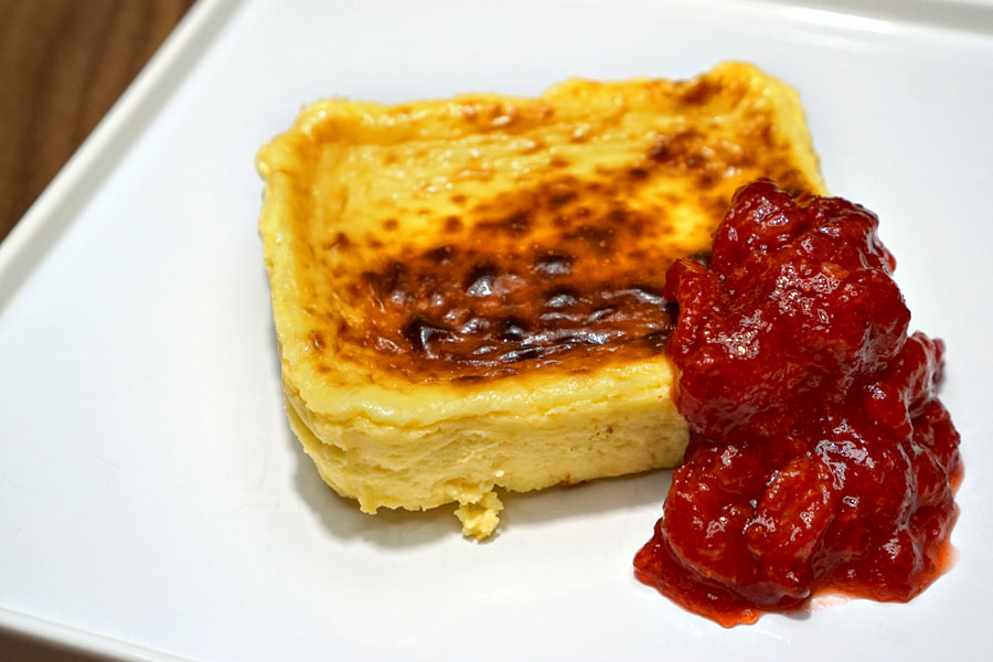 Basque Cheesecake (Plated)