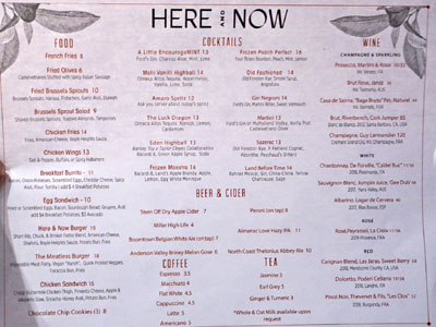 Here and Now Menu