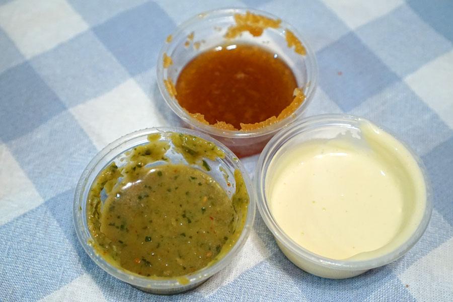Parsley Sesame Sauce, Daikon Ponzu Oroshi, Lemon Aioli