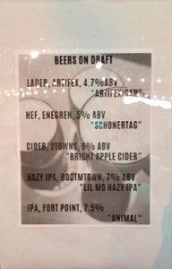 The Mermaid Beer List
