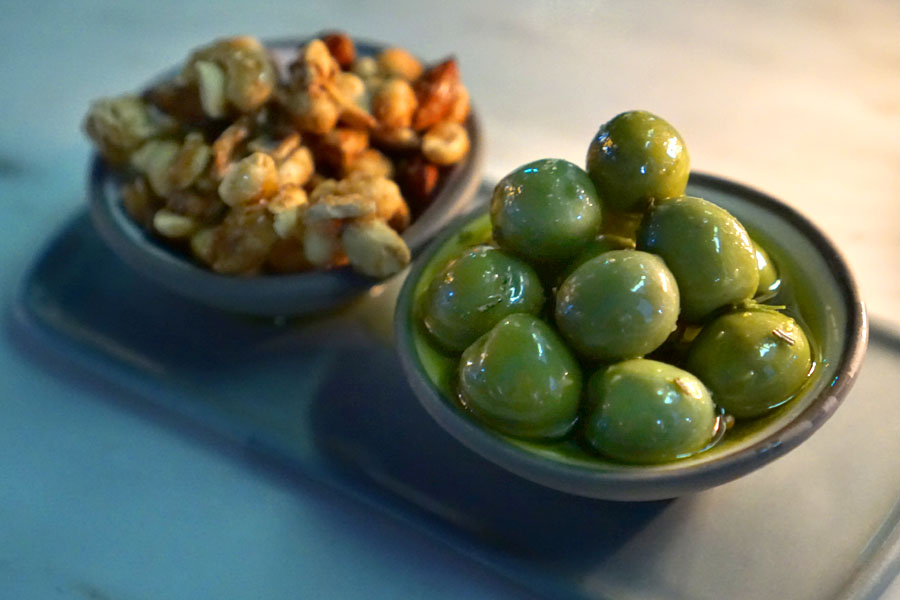 Marinated Olives & Mixed Nuts