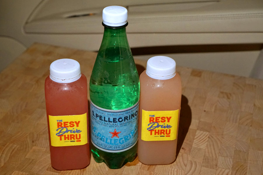 Watermelon Mocktail, S.Pellegrino Water, Peach Mocktail