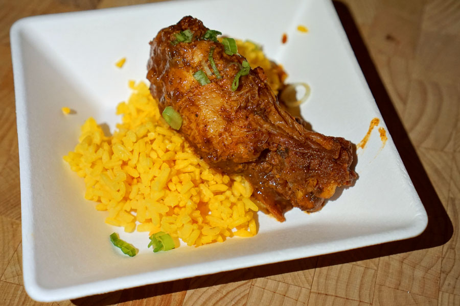 Trap Kitchen Golden Rice with Chicken
