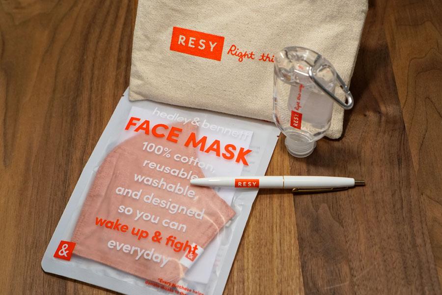 Hedley & Bennett Mask, Resy Hand Sanitizer, Resy Pen