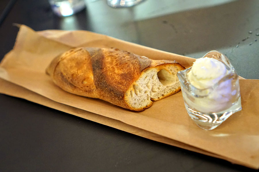 housemade baguette, seasoned butter