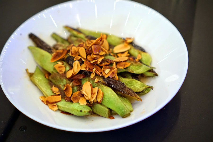 roasted romano beans, toasted almonds, black truffle & brown butter pesto