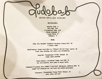 Ludobab Beverage List
