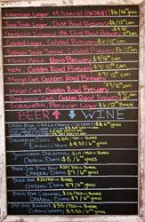 Little Llama Beer & Wine List