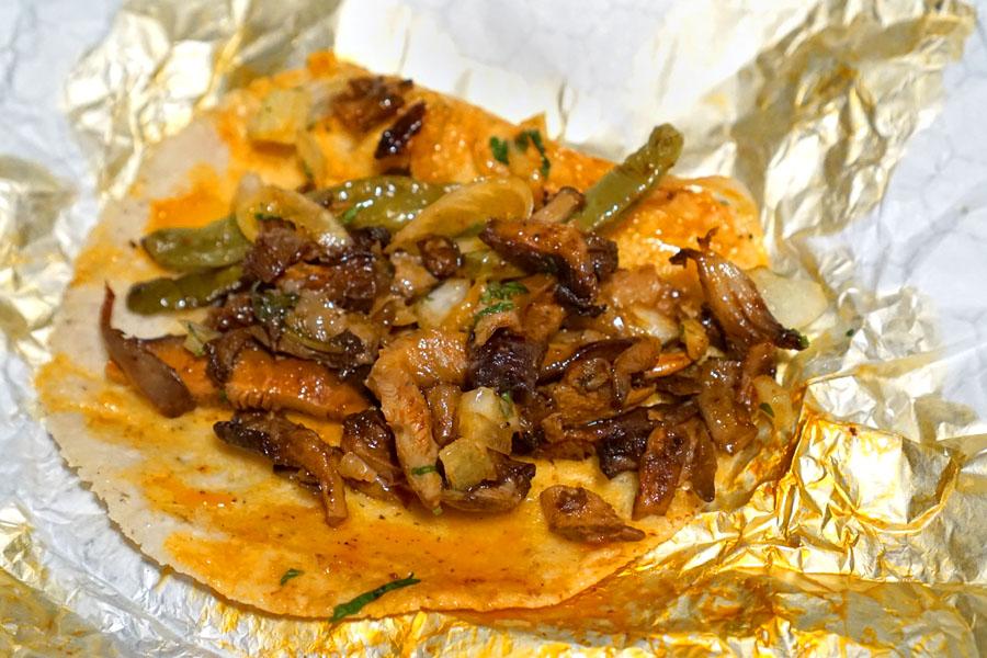 Mushroom Barbacoa Taco