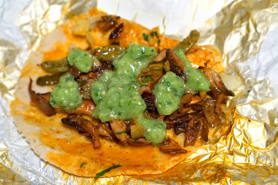 Mushroom Barbacoa Taco (With Salsa)