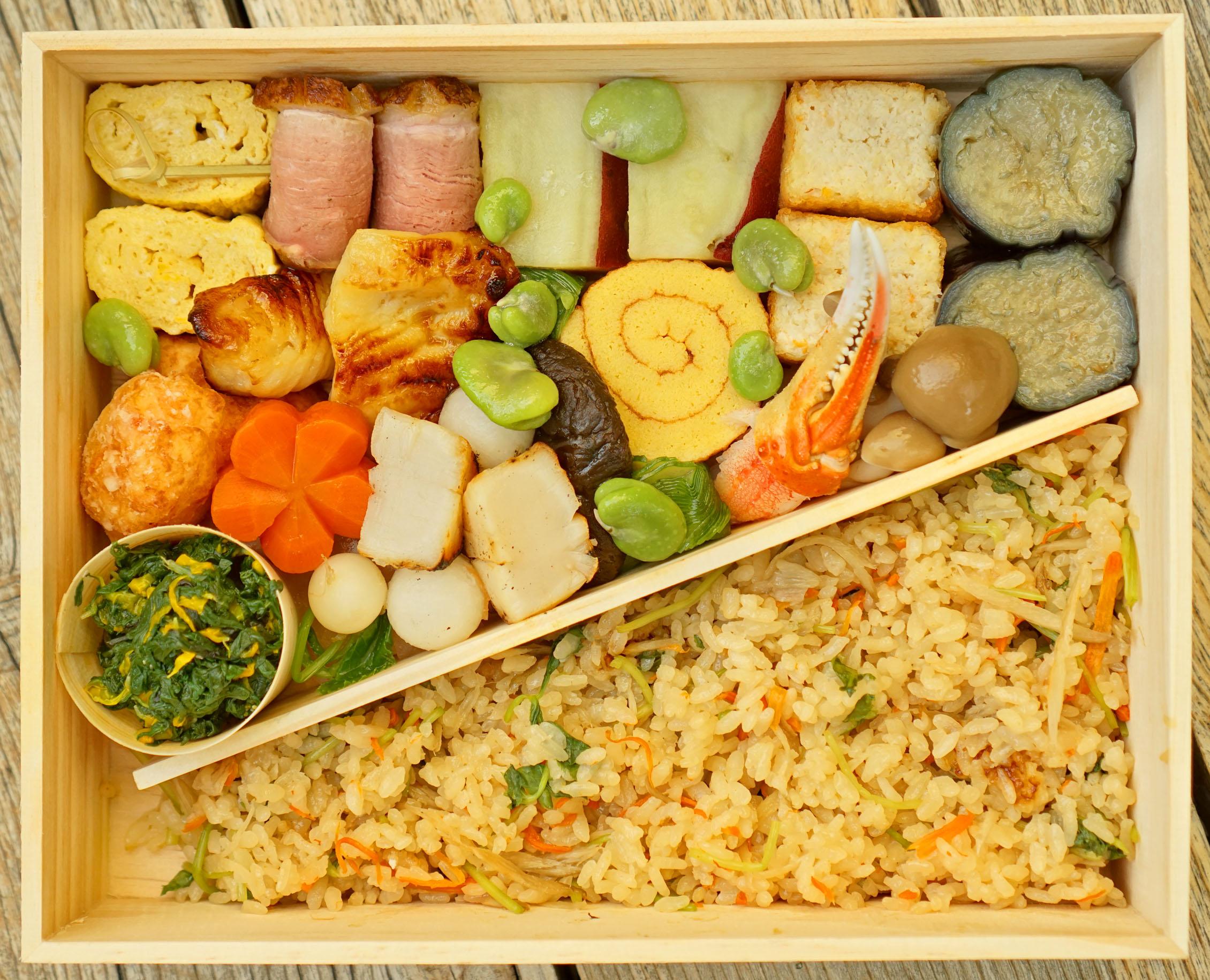 Hayato Bento Box (Overhead Shot)