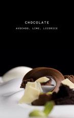 Vespertine Alinea Menu: Chocolate