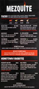 Mezquite Tacos & Fuego Menu: Tacos, Hometown Favorites