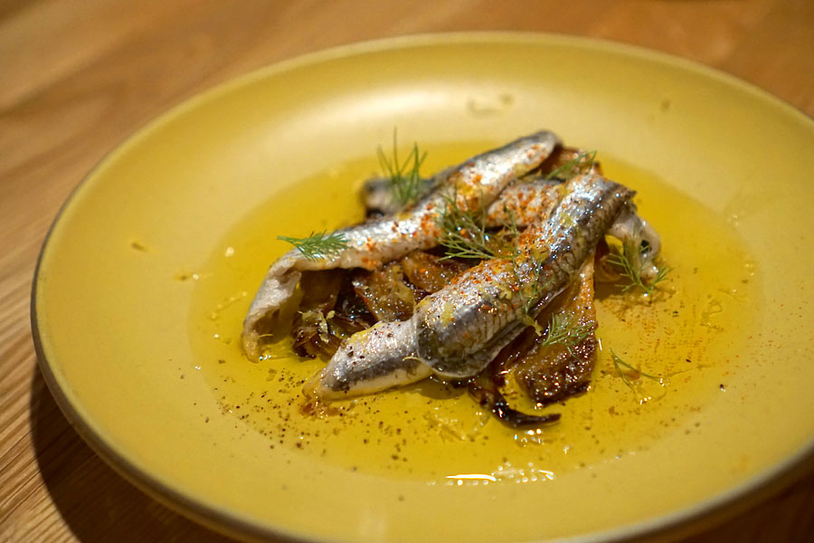 Boquerones on Grilled Fennel Bulb