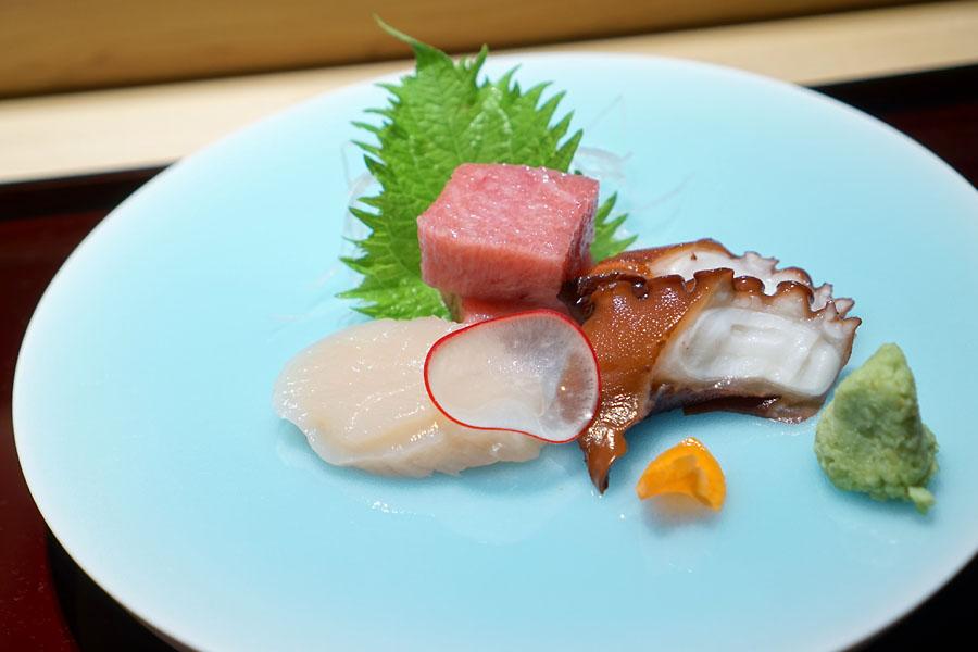お造り / Sashimi - Otoro, Tako, Hotate