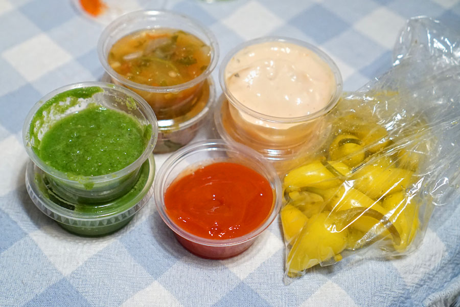 George's Burger Stand Condiments