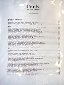 Perle Wine List