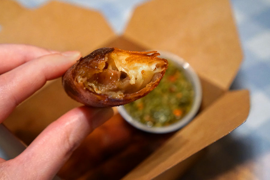 RBX Cheesy Pork Egg Rolls (Inside)