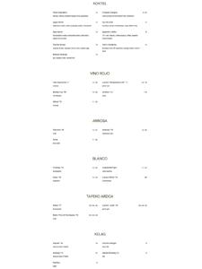 Saso Beverage List
