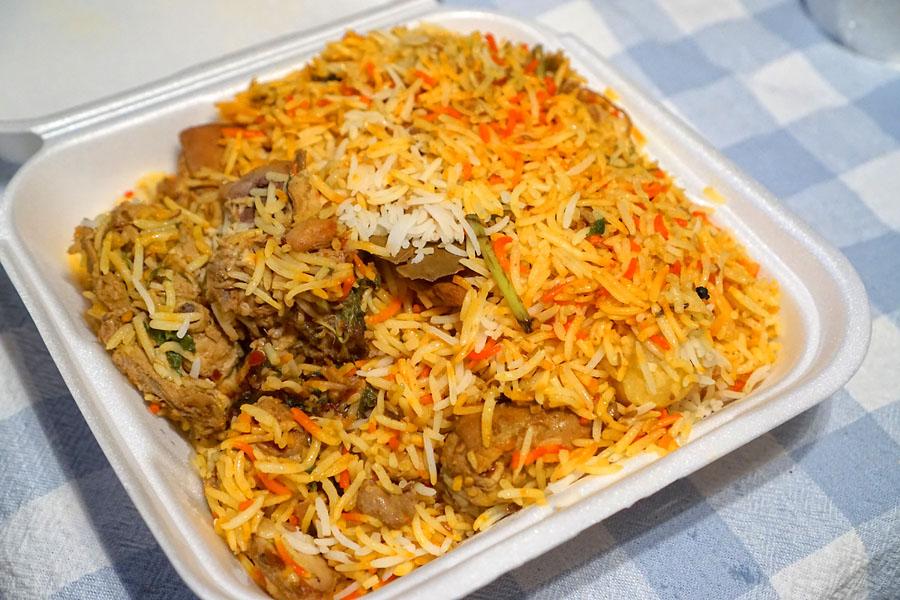 Karachi-Style Chicken Biryani