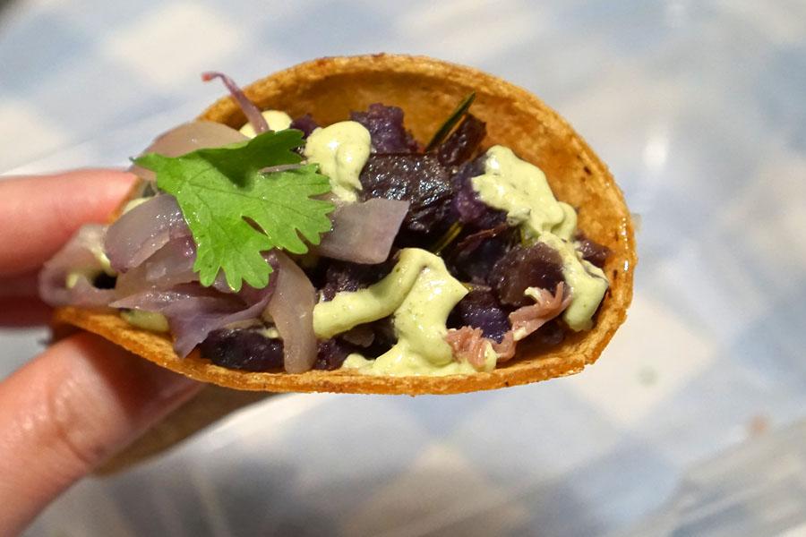 Purple Potato Taco