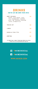 Miirch Social Drink List