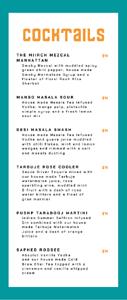 Miirch Social Cocktail List