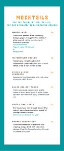 Miirch Social Mocktail List