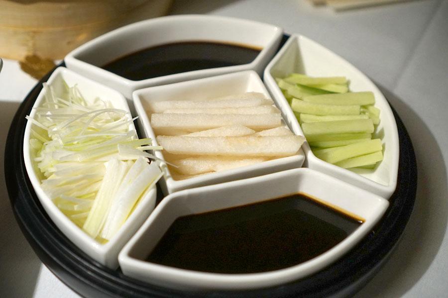 Chang'an Roasted Duck: Spring Onion, Pear, Cucumber, Sweet Bean Sauce