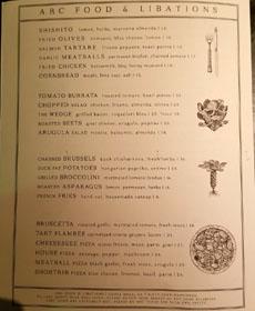 The Guild Club Menu: Appetizers