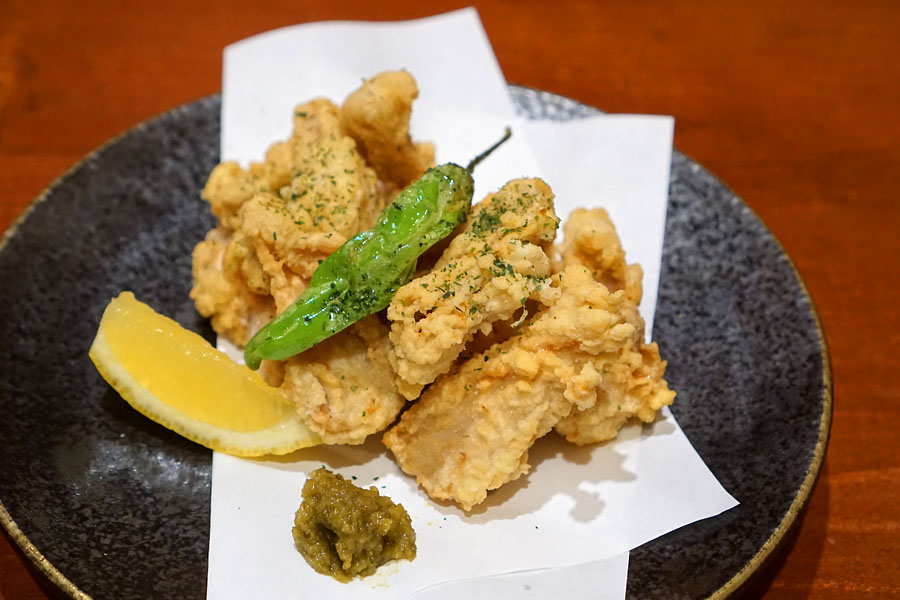 'Yagen karaage', deep fried chicken cartilage
