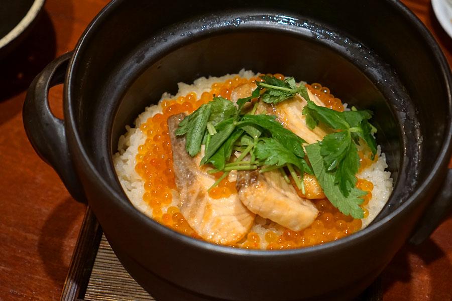 Salmon & Ikura Donabe Rice