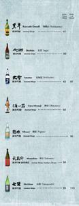 Izakaya Tonchinkan Sake List: Junmai Ginjo