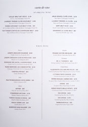 Xiquet Wine List: Sparkling, White