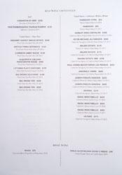 Xiquet Wine List: Red, Rosé