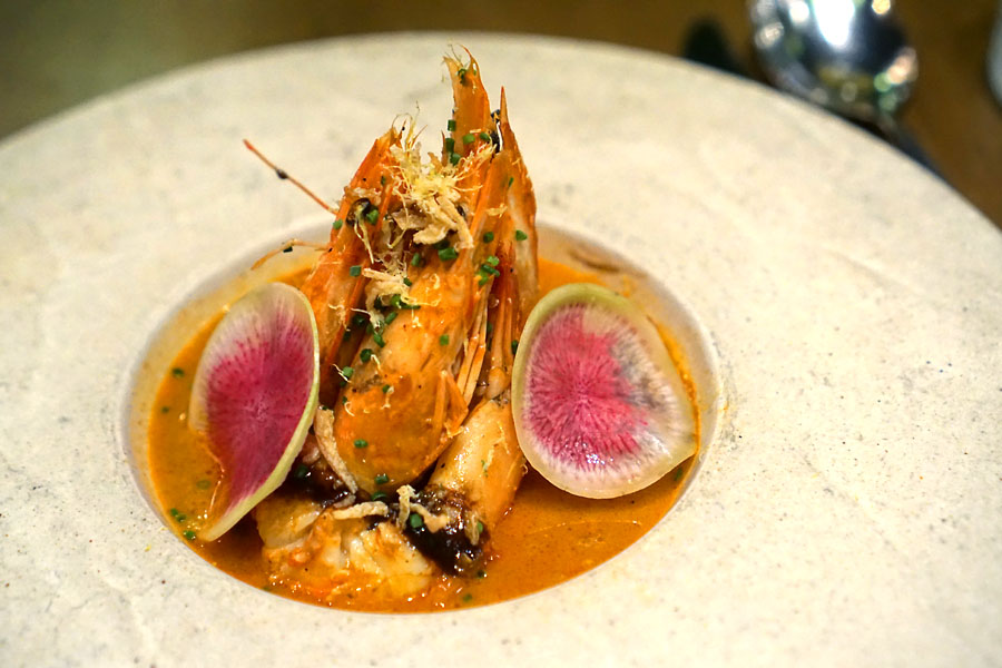 Red Prawn with Curry