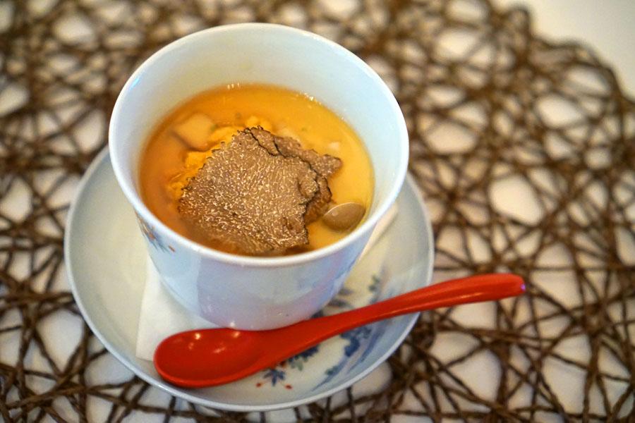 Chawanmushi - Steamed Egg Custard with Sea Urchin and Truffles