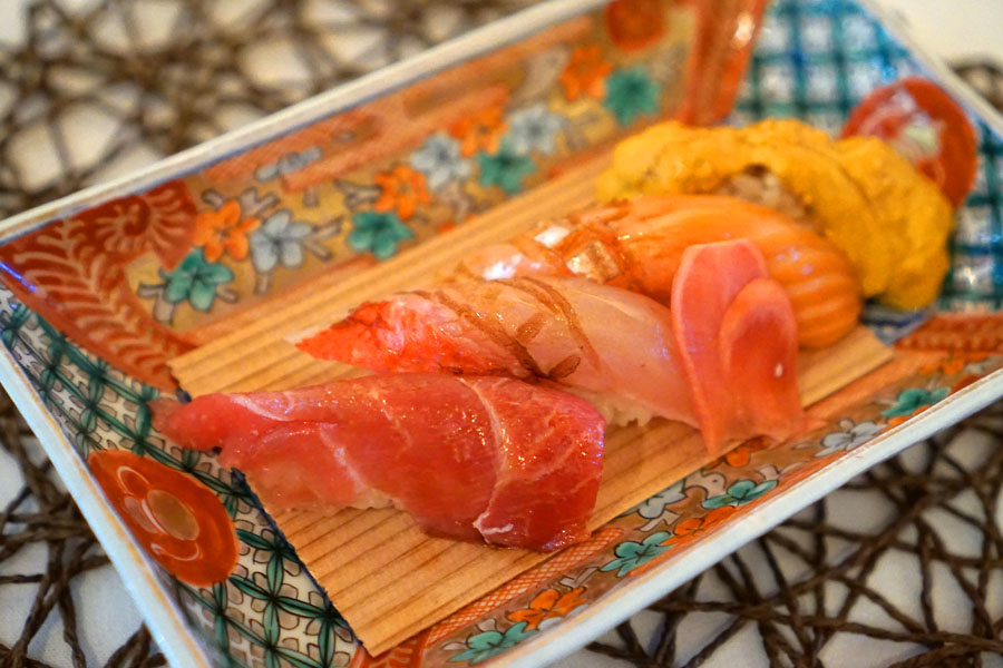 Four kinds of Nigiri Sushi