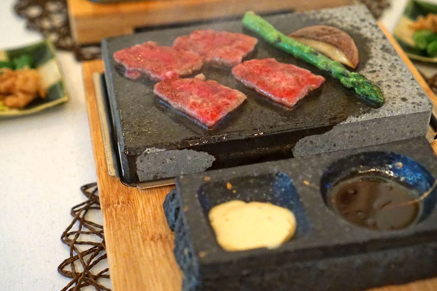 Yogan-yaki Wagyu Beef with Japanese Mustard Butter Sauce