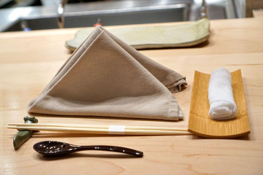 Sushi Kaneyoshi Place Setting