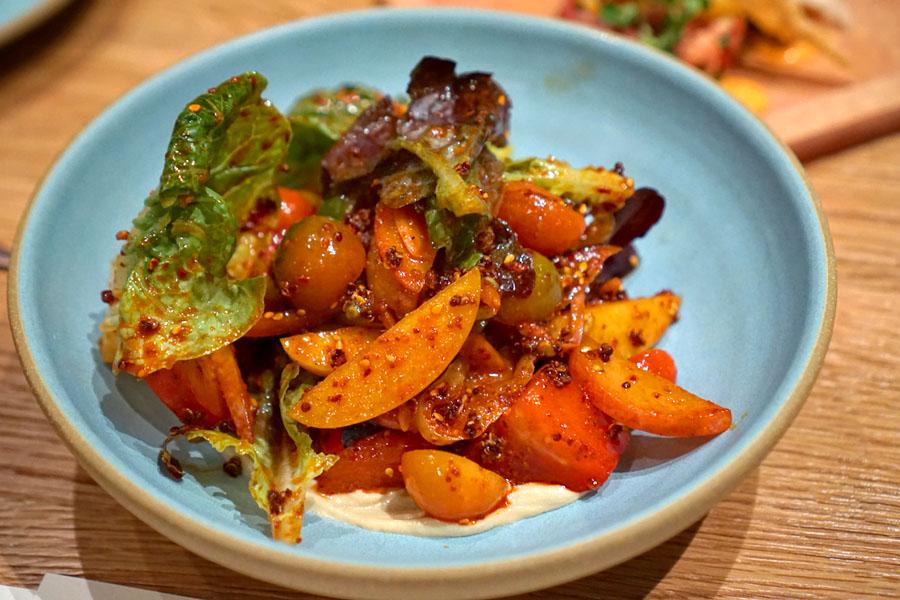 tomato & stone fruit