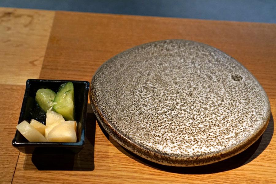 Sushi Plate, Ginger, Cucumber