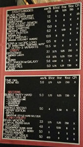 Modern Times Leisuretown Beer List: Stouts/Biggies, Crispy, Seltzers, Funky/Fruity